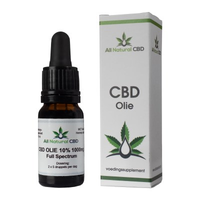CBD olie 10� 1000 mg Full Spectrum met doosje